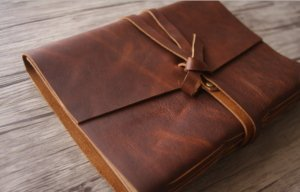 custom thick leather journal