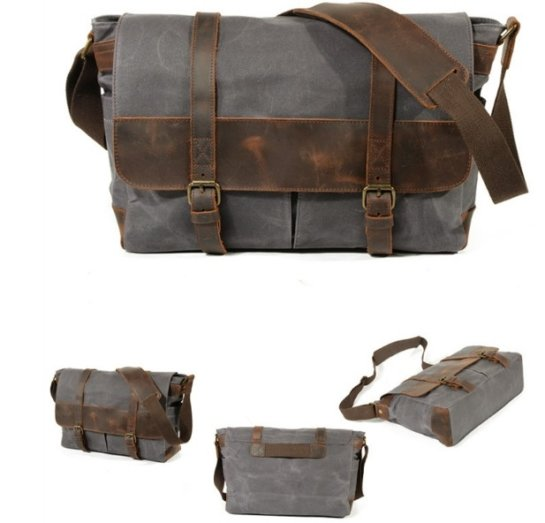 dark gray canvas messengerdark gray canvas messenger