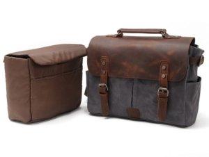 dark gray laptop leather bags