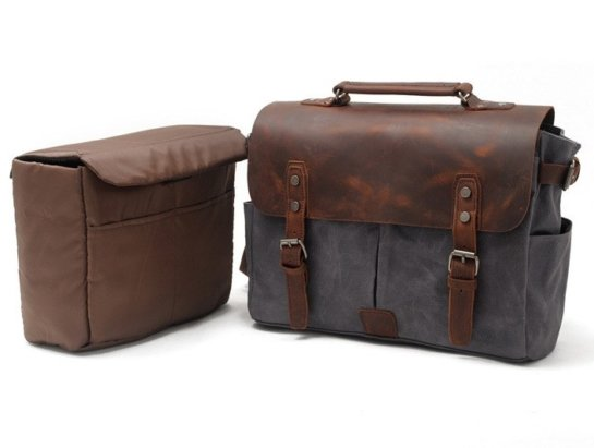 dark gray laptop leather bags