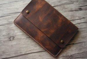 designer leather document portfolio handmade