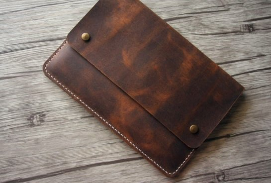 designer leather document portfolio handmade