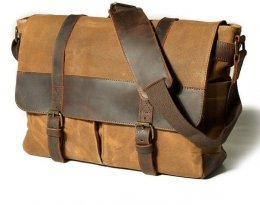 distressed canvas leather bags