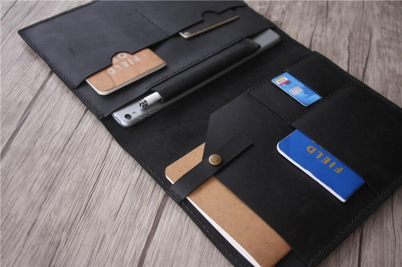 Personalized ipad leather portfolio document padfolio