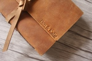 genuine rustic leather journal