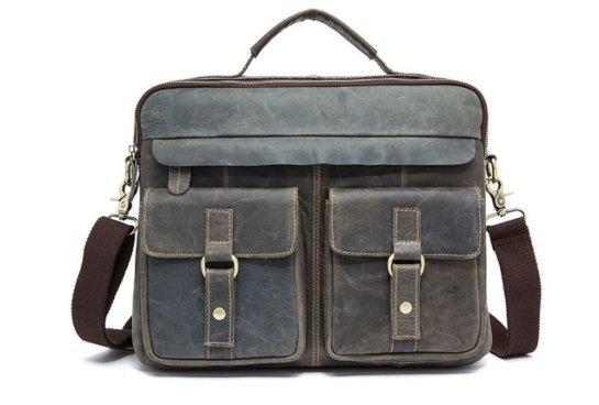 grey women leather bag