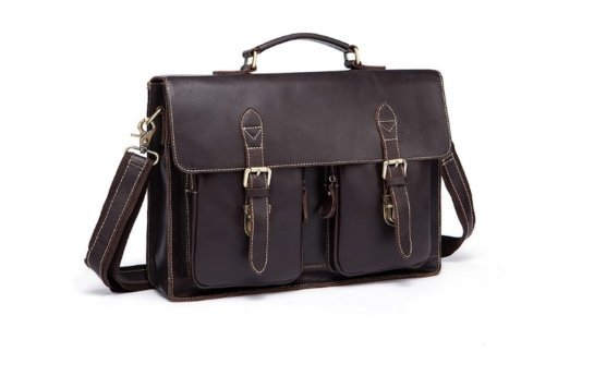 handmade leather briefcase