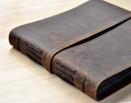 handmade leather photo album