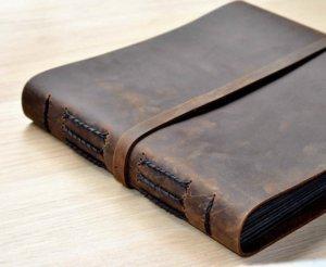 handmade leather photo album