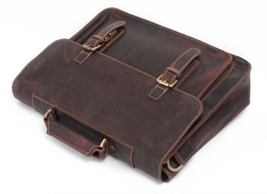 horween leather messenger briefcase
