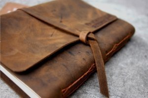 italian leather monogrammed journals