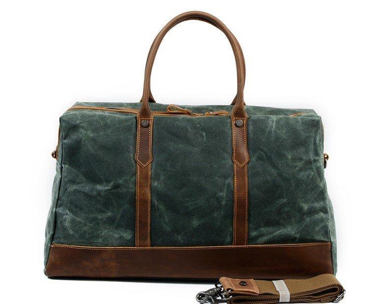 Lake Green Canvas Weekend Luggage Bags