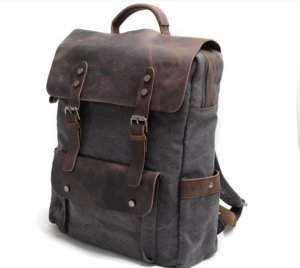 laptop leather backpak bags