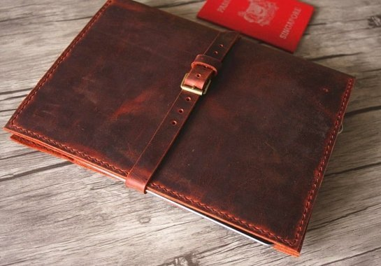 leather binder portfolios document