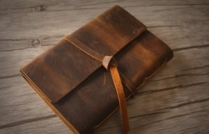 leather bound diary journal