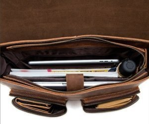 leather briefcase vintage