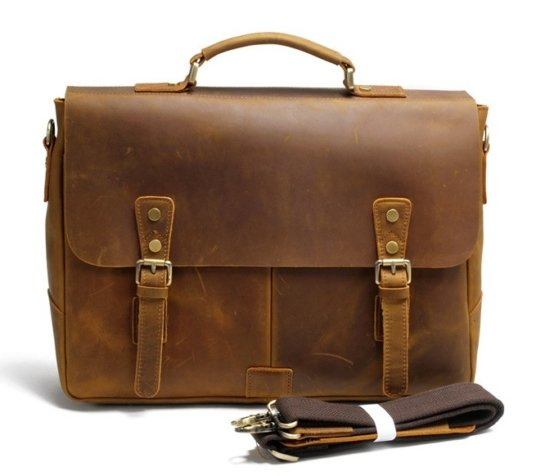 leather business messenger bags