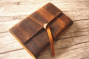 leather diary journal