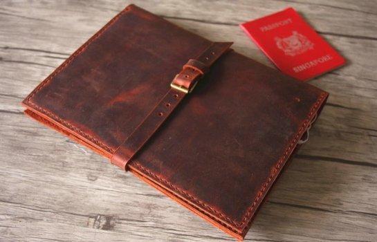 leather document portfolios