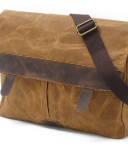 leather canvas shoulder bags