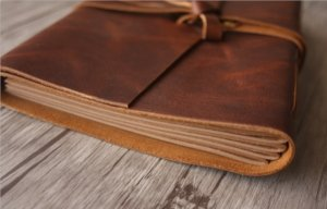 leather journal client gifts