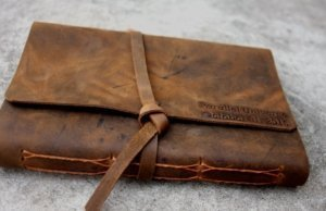 leather monogrammed journal covers