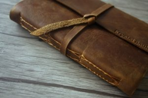 leather embossed journal for men