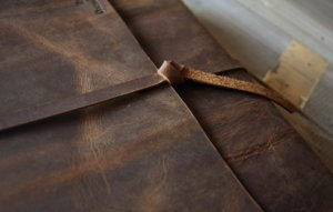 leather journal lined paper