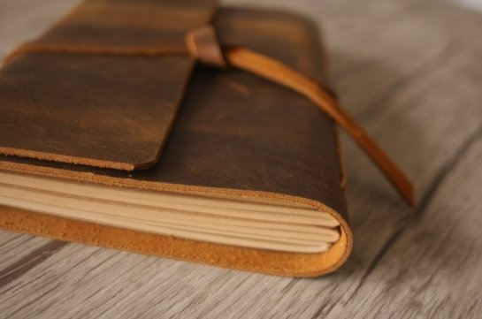 leather diary journals