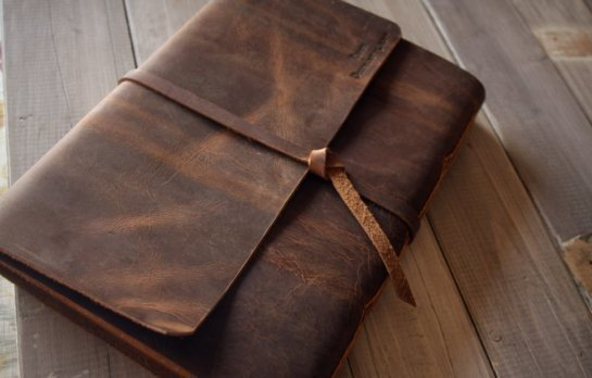 leather notebook vintage