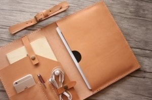 leather notepad folio