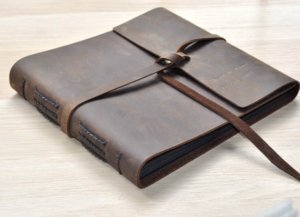 leather photo album gifts