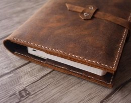 leather portfolio 3 ring binder