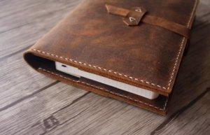 leather portfolio 3 ring binder