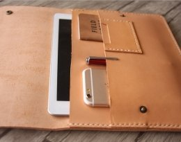 leather portfolio pad folder