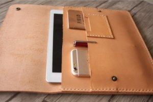 leather portfolio pad folder