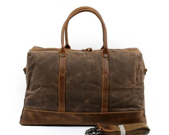 leather weekend luggage bag coffee