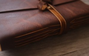 thick leather writing journal