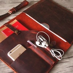 mens burgundy leather document portfolio