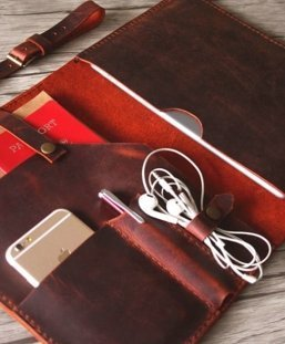 mens burgundy leather document portfolio