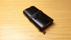 personalized black leather journals