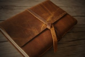 personalized leather bound embossed journals