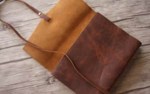 personalized thick leather journal embossed