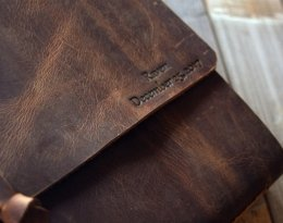 personalzied refillable leather journal