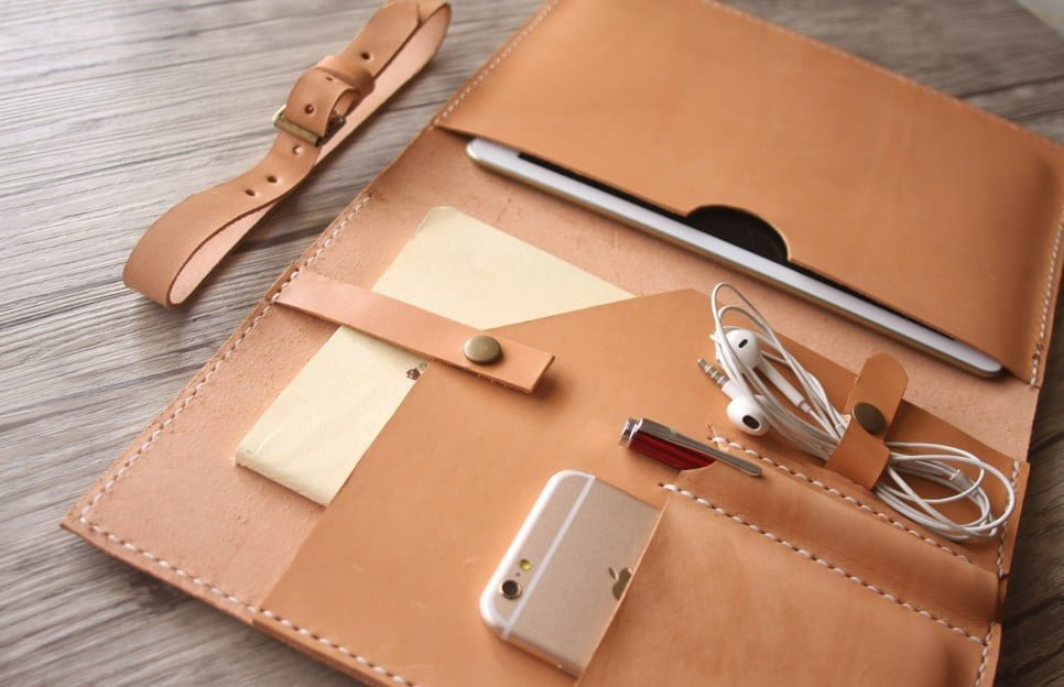 Italian Leather Junior Leather Padfolio Tablet Case Flixgifts