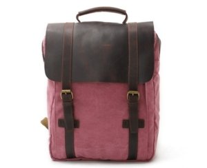 red retro backpack bags
