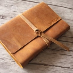rustic leather embossed journals