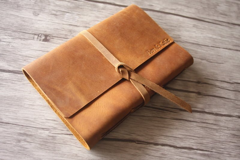 flexible rock leather embossed journals lined scrapbook flixgifts