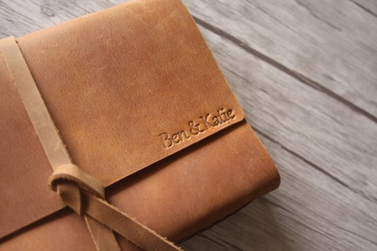 rustic personalized leather joutnal