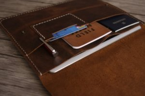designer's tablet leather portfolio